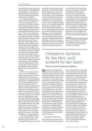 Cholesterin: Schlecht für das Herz, auch schlecht für den Geist?