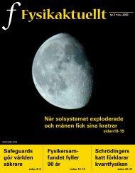 Fysikaktuellt - Svenska Fysikersamfundet