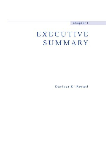 EXECUTIVE SUMMARY - Economic Forum