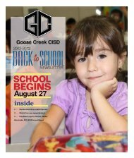 August 27 - Goose Creek Consolidated Independent School District