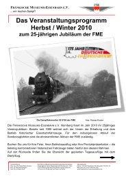 Das Veranstaltungsprogramm Herbst / Winter 2010 - Fränkische ...