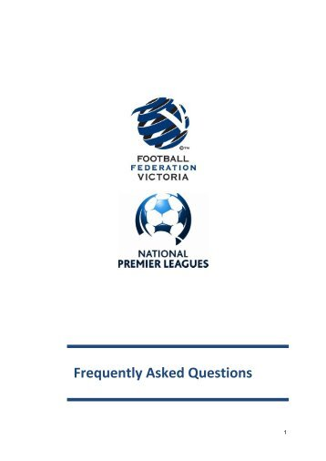 NPLV Frequently Asked Questions - Football Federation Victoria