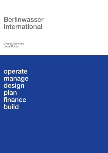 Berlinwasser International operate manage design plan finance build