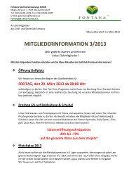 Mitgliederinformation 03/2013 - Golfclub Fontana