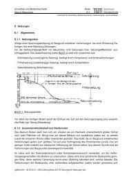 Setzungen - Lehrstuhl und Prüfamt für Grundbau, Bodenmechanik ...