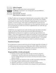 Offre d'emploi Coordonnateur (trice) communautaire - Frontier College