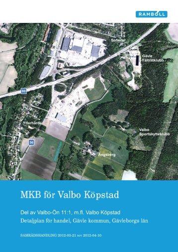 MKB för Valbo Köpstad - Gävle kommun