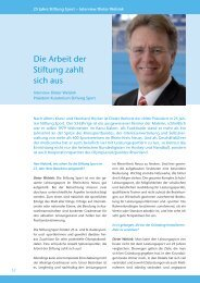 Festschrift 25 Jahre Stiftung Sport Neuss 03-2011 - Medicoreha