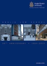 Anglia Law School 50th Anniversary newsletter