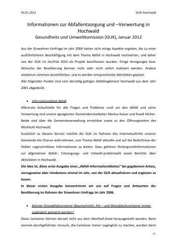 Abfallkonzept Hochwald - firma-web