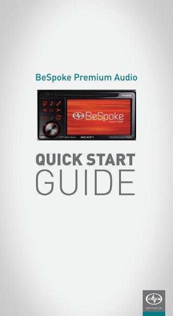 BeSpoke ® Quick Start Guide