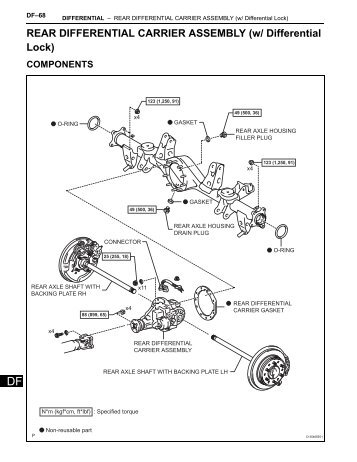 REAR DIFFERENTIAL CARRIER ASSEMBLY (w/ Differential Lock)