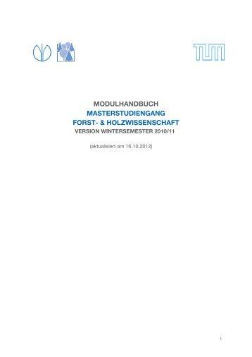 Modulhandbuch - Studienfakultät für Forstwissenschaft und ...