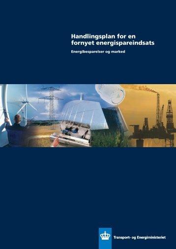 Handlingsplan for en fornyet energispareindsats