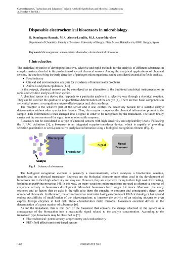 Disposable electrochemical biosensors in microbiology - Formatex ...