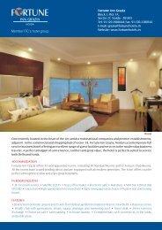 Hotel factsheet - Fortune Park Hotels