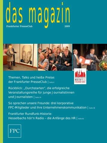 Magazin 2009 - Frankfurter Presseclub
