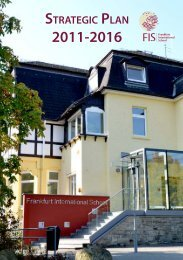strategic plan for 2011-2016 - Frankfurt International School