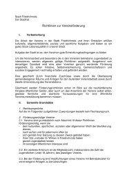 Richtlinien zur Vereinsförderung - Friedrichroda