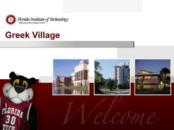 Greek Village - Amenities - Florida Institute of Technology