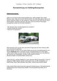 Kennzeichnung von Gefahrguttransporten - Freiwillige Feuerwehr ...