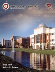 2008–2009 - Florida Institute of Technology