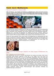 Krank durch Medikamente - Forum-Bioenergetik eV