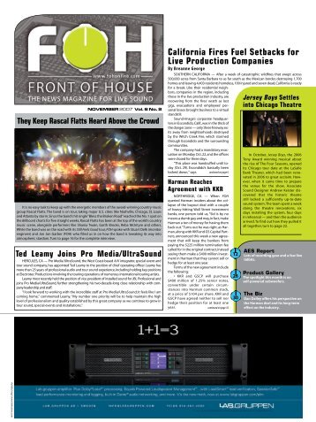 California Fires Fuel Setbacks for Live Production ... - FOH Online