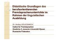 Berufsorientierung - Fremdsprachenzentrum der Hochschulen im ...