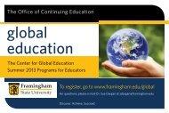 global education - Framingham State University