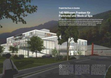 140 Millionen Franken für Parkhotel und Medical Spa