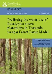 Predicting the water-use of Eucalyptus nitens plantations in ...