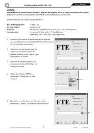 Softwareupdate bei IRD 390 - 420 - FTE Maximal