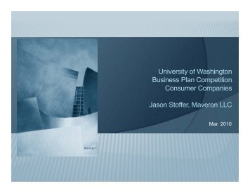 Maveron Equity Partners III, L.P. October 16, 2008 - University of ...