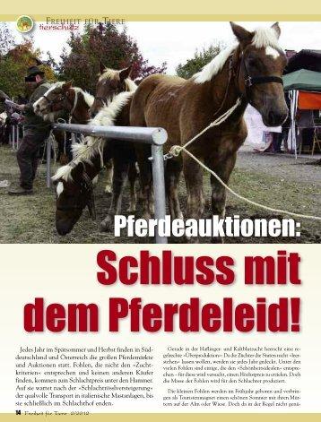 Tierschutz - Magazin Freiheit für Tiere