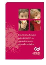 nieuwe functieomschrijving - GO! onderwijs van de Vlaamse ...