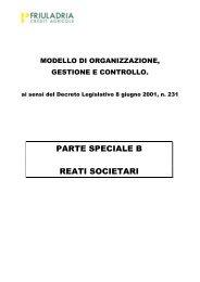 PARTE SPECIALE B REATI SOCIETARI - Friuladria