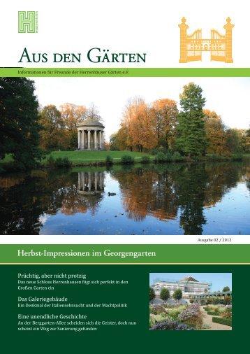 pdf zum Download (7 MB) - Freunde der Herrenhäuser Gärten eV