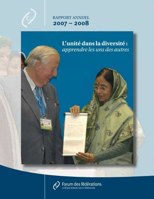 rapport annuel 2007/2008 - Forum of Federations