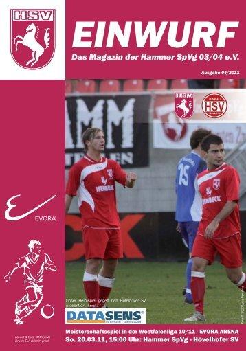 Das Magazin der Hammer SpVg 03/04 eV - Hammer Spielvereinigung