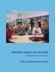 Annual Accountability Report - Fort La Bosse School Division