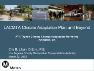 LACMTA Climate Adaptation Plan and Beyond