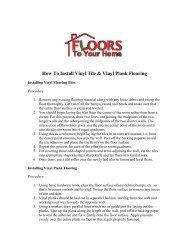 How To Install Vinyl Tile & Vinyl Plank Flooring - Floors To Your Home