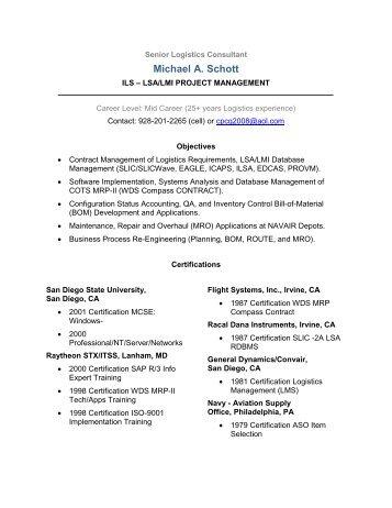 Senior Logistics Consultant Resume - FTP Directory Listing