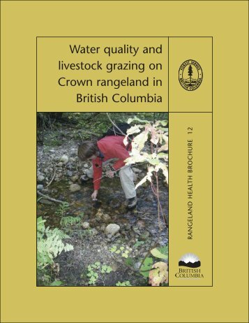 RHB water quality - Ministry of Forests, Lands and Natural Resource ...