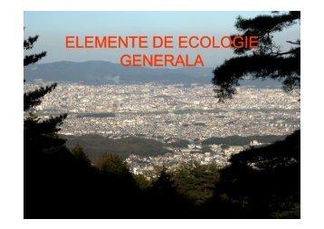Notiuni generale de ecologie
