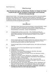 Sondernutzungssatzung - Friedrichroda