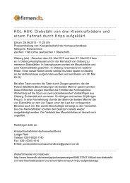 POL-HSK: Diebstahl von drei Kleinkrafträdern und einem ... - Firmendb