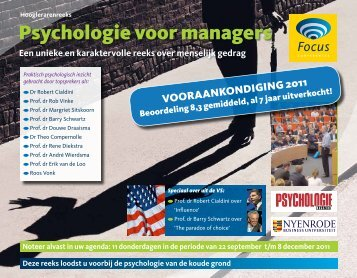 Psychologie voor managers - Focus Conferences