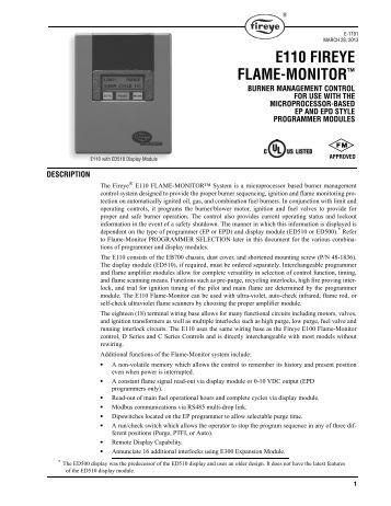 "e110 fireye flame monitorâ""¢ westmill industries e110 fireye flame monitorâ""¢ fireye inc"